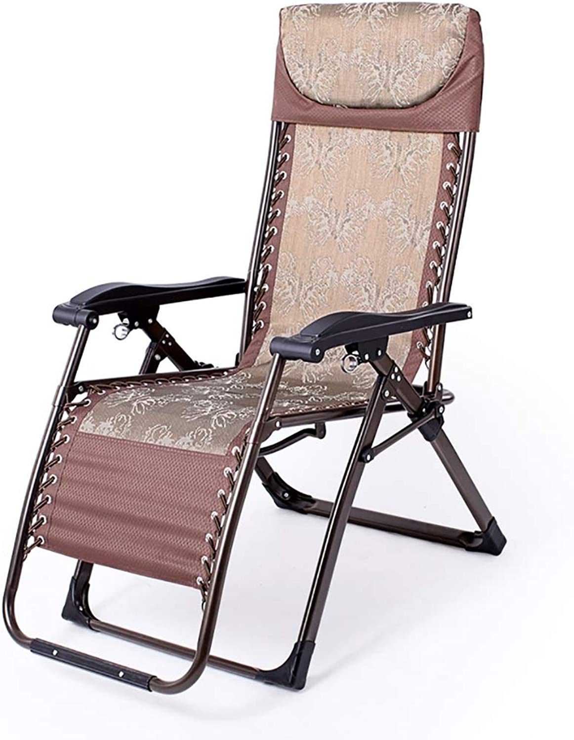 Chair Recliner Foldable Adjustable Lounge Chair Multi-use NAP Bed Beach Chair (color   B)