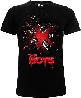 Fashion UK Camiseta The Boys original oficial de la serie TV, camiseta para adulto, niño, color negro
