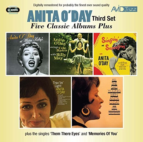 Five Classic Albums Plus (Anita O'Day Swings Cole Porter With Billy May / At Mister Kelly's / Singin' And Swingin' / Trav'lin' Light / All The Sad Young Men) by Anita O'Day