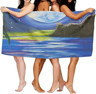 "Bath Towel Soft Big Beach Towel 31""x 51"" Unique Soft Horse Fire Pattern Design"