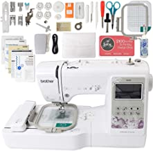 Brother SE600 Computerized Sewing and Embroidery Machine Bundle with 4