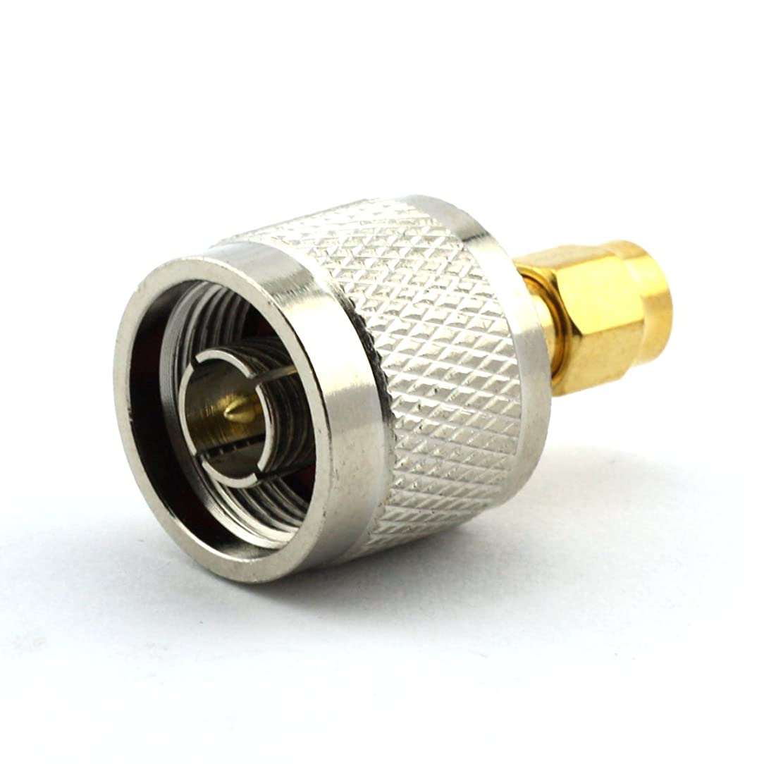 Maxmoral N Male to RP-SMA RP SMA Male Connector RF Coax Coaxial Adapter
