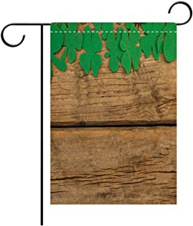 BEICICI Custom Personalized Garden Flag Outdoor Flag St Patricks Day Shamrock Beer Bottle and Pot Filled with Chocolate Gold Coins Decorative Deck, Patio, Porch, Balcony Backyard, Garden or Lawn