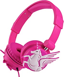 Unicorn Headphones for Kid/Teens/Adult with Sharing Function, 85dB Volume Limited Headphones Foldable,Adjustable Toddler Headphones for Smartphone Tablet Laptop Computer MP3/4