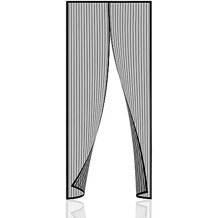 Passt T/ürgr/ö/ße bis zu Black Magnetverschluss Klebemontage Ohne Bohren CHENG Magnet Fliegengitter Balkont/ür 180x190cm Magnetischer Fliegenvorhang Moskitonetz