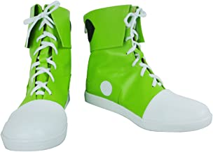 YuanCos Kagerou Project Leader Of Mekakushi Dan Tsubomi Kido Green Cosplay Shoes