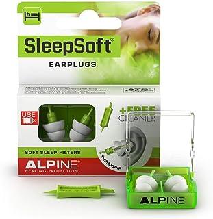 Alpine SleepSoft Bouchons d'oreille Protection Auditive pour Dormir - Anti Ronflement et Améliore le Sommeil - Filtres Dou...