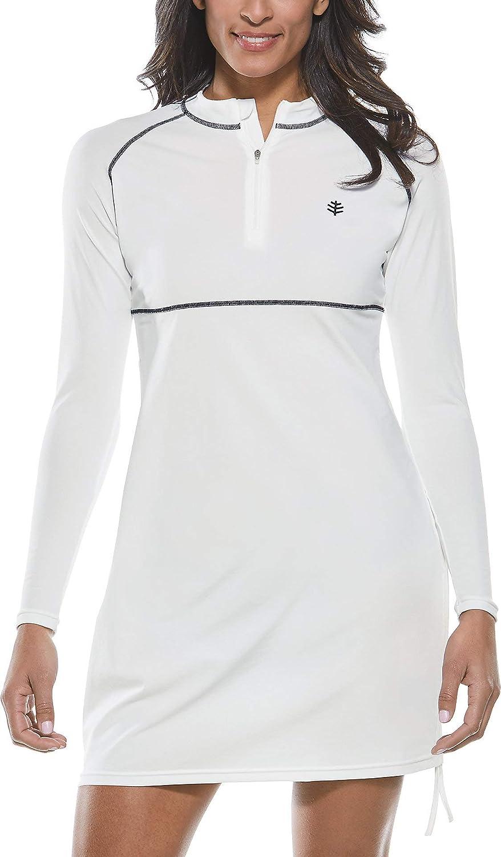 Coolibar UPF 50+ Women's Lawai SEAL limited product Ruche Swim - Shirt Sun Protective 5 popular
