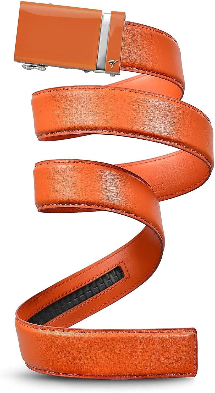 Mission Belt Men's Leather Ratchet Belt, 40mm Solid Collection