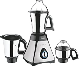 Preethi Steele Mixer Grinder, 13 x 8.6 x 12.5 inches, Black, Silver