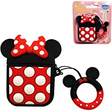 AKXOMY Compatible with Airpods 1/2 Case, Silicone Cute 3D Cartoon Minnie Airpods Case Cover,Kawaii Fun Cool Design Skin,Fashion Animal Designer Cases for Girls Teens Boys Air pods (Black Minnie)