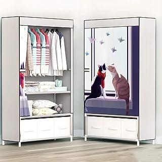 CXVBVNGHDF Armoire en Toile Armoire en Tissu Armoire en Tissu, Rangement de vêtements avec étagères pour Chambre et Salon, B