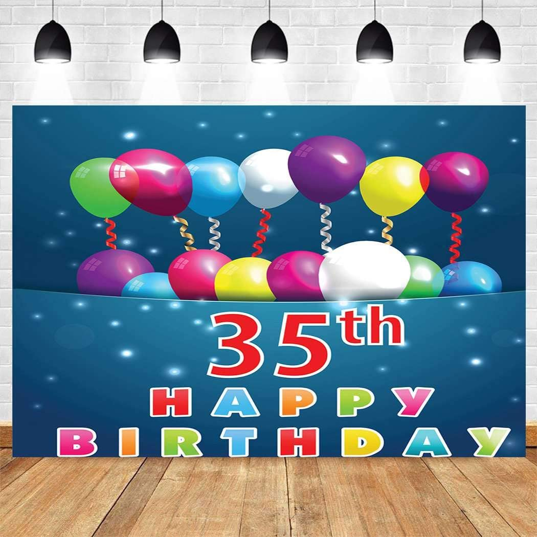 Free shipping anywhere in the nation Aoyuntu 10x10ft 35th Birthday Backdrop Su Background Sale Special Price Photography