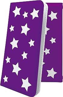 TCL 10 Lite ケース 手帳型 星 星柄 星空 宇宙 夜空 星型 紫 パープル ティーシーエル おしゃれ tcl10lite かっこいい 10403-3gioig-10001689-tcl10lite