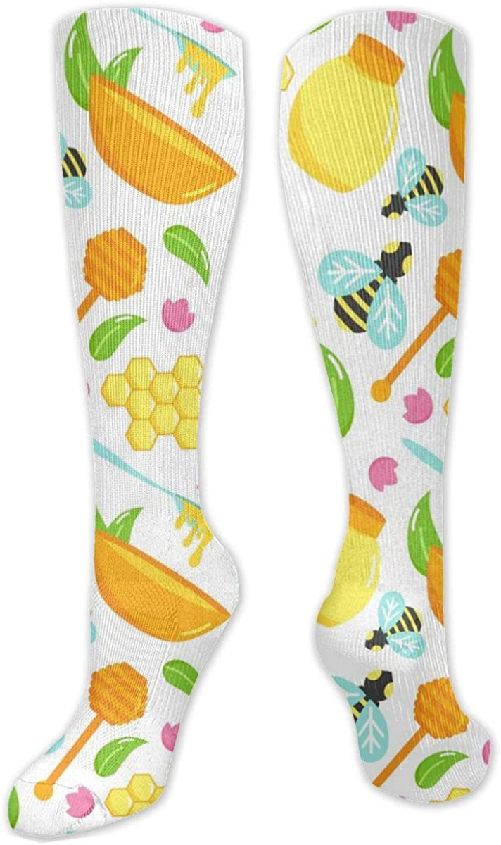 Bee And Honey Knee High Socks Leg Warmer Dresses Long Boot Stockings For Womens Cosplay Daily Wear