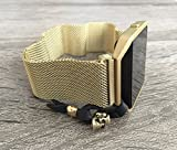 Gold Metal Bracelet For Fitbit Blaze Smart Fitness Watch Mesh Loop...