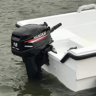 HANGKAI DENESTUS Outboard Motor 2 Stroke 18HP Superior Engine Water Cooling Fishing Boat 246CC 24L Water Cooling Inflatable Boat Certified by CE Fuel Saving Technology USA Stock