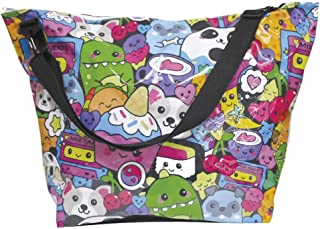 "iscream 'Kawaii Besties' Weekender 23.5"" x 16"" x 9"" Travel Tote Bag with Adjustable Strap"