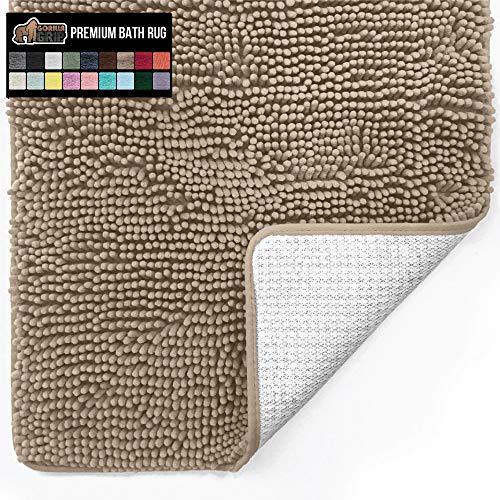 Gorilla Grip Original Luxury Chenille Bathroom Rug Mat, 30x20, Extra Soft and Absorbent Shaggy Rugs,...