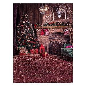 Andoer–tela de fondo Navidad 1,5* 2m decoración de fotografía plegable de poliéster fibra para cámara réflex digital photo studio