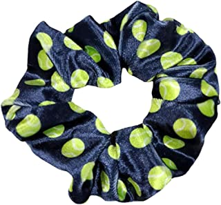 Tennis Scrunchie, Tennis Hair Accessories, No Crease Tennis Premium Velvet Elastics, Gift for Tennis Players