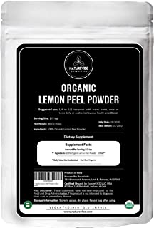 Naturevibe Botanicals USDA Organic Lemon Peel Powder, 5lbs | Citrus Lemon - 100% Pure & Natural
