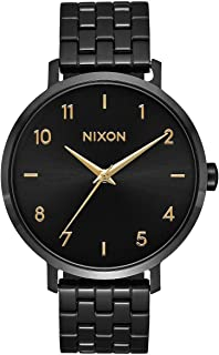 NIXON Arrow A1090 - Black/Gold - 50m Water Resistant Women's Analog Classic Watch (38mm Watch Face, 17.5mm Stainless Steel...