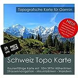 Suisse Garmin Carte Topo 4GB MicroSD. Carte Topographique GPS Carte de loisirs pour...