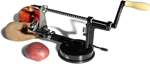 UtenLid Apple and Potato Peeler, Corer, and Slicer With Suction Base Black