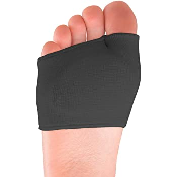 Metatarsal Sleeve Pads,Ball of Foot Cushions with Soft Gel,Fabric Forefoot Compression Socks,Half Bunion Sleeves Great for Mortons Neuroma,Metatarsal and Forefoot Pain Relief,for Men and Women.