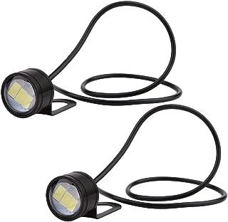 Eagle Eye LED, Yeeco 2PCS DC12V 3W White Daytime Running Lights Bulb, DRL LED Tail Back Fog Light for Car Motorcycle Vehicle