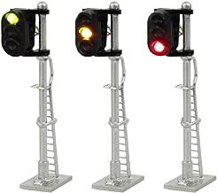 JTD1503GYR 3PCS Model Railroad Train Signals 3-Lights Block Signal N Scale 12V Green-Yellow-Red Traffic Lights Train Layout