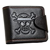 YJacuing Anime One Piece Straw Hat Pirates Jolly Roger Leathercraft Wallet