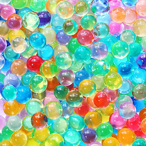 30,000 Colorful Water Gel Beads for Kids Sensory Toys, 10 Colors 2 Sizes, Water Growing Bead for Spa Refill and Décor