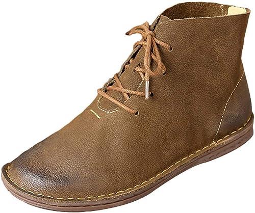 ZHRUI Stiefel Invierno de la Vendimia para damen (Farbe   Khaki-2, tamaño   3.5 UK=37 Asian-2)