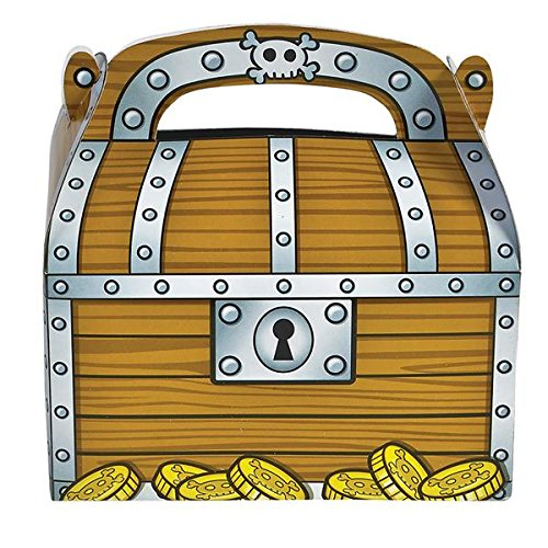 Rhode Island Novelty 6.25' Treasure Chest Treat Boxes