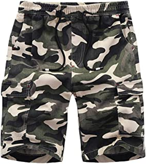Mens Summer Casual Loose Camouflage Printing Patchwork Sport Beach Shorts Pants
