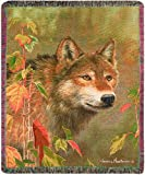 Manual The Lodge Collection 50 x 60-Inch Tapestry Throw with Fringe, Hidden in The Mist by James Hautman