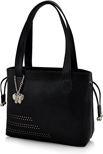 Butterflies Women's Handbag (Black) (BNS-0608BK)