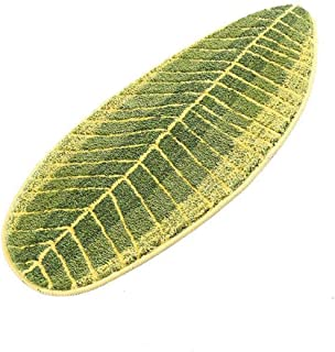 MustMat Non Slip Kitchen Rugs and Mats Cute Leaf Shape Area Rugs Nice for Kitchen Floor/Bathroom/Bedroom 17.7