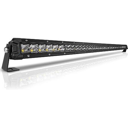 Rigidhorse 42 Inch LED Light Bar Single Row Flood & Spot Beam Combo 40000LM Off Road LED Light Bar Driving Light for Pickup SUV ATV UTV Truck Roof Bumper