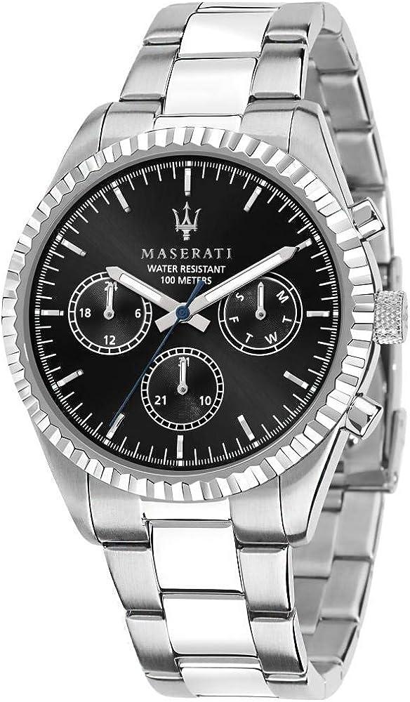 Maserati orologio da uomo, collezione competizione, in acciaio 8033288892304