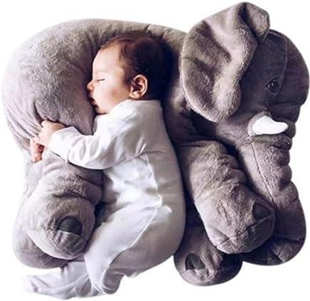 sdtdia Cuscini della Peluche degli Animali farciti del Cuscino dellelefante per i Giocattoli della Peluche di Sonno del Bambino Grigio, 60CM