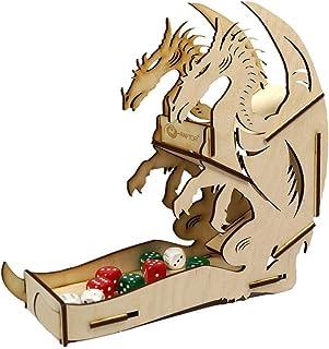 e-Raptor ERA19039 - Gioco da tavolo in legno, motivo: drago, grande