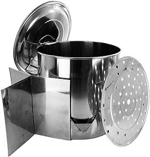 Thaweesuk Shop Stock Pot Stainless Steel 52 QT Steamer Brew Vaporera Divider Tamales Tamalera Steamer Insert Height 15