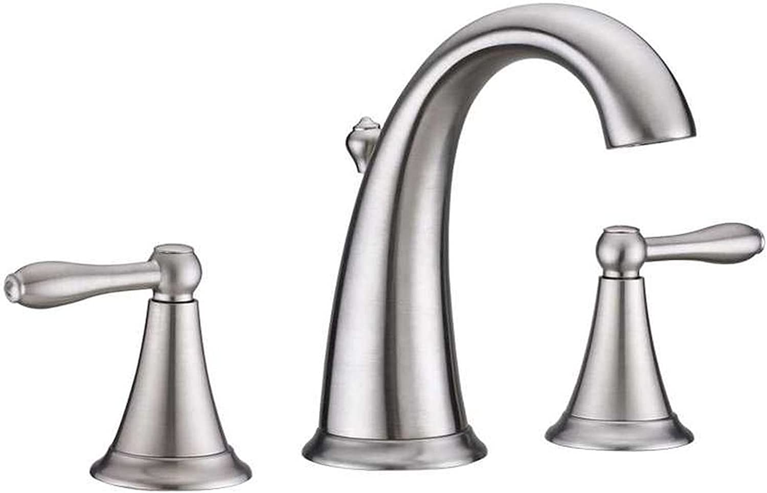 Alexis Double Handle Widespread Faucet Finish  Brushed Nickel