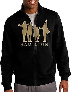 Simoon Hamilton Music Men's Solid Stand Collar Zipper Jacket