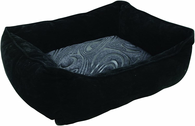 Dogit Style Cuddle Bed, Black Retro XSmall
