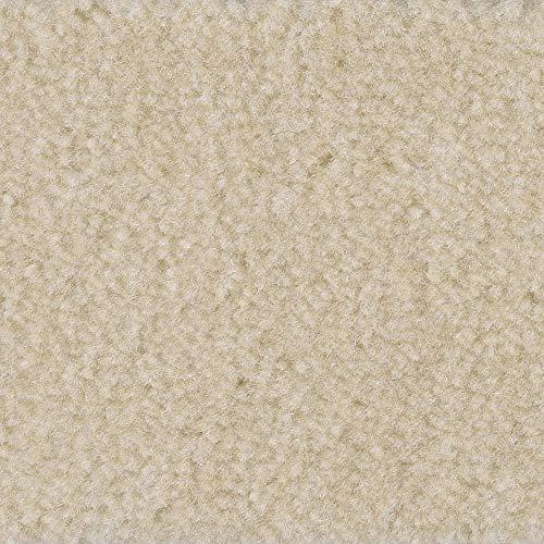 Teppichboden Auslegware | Velours gemustert | 400 und 500 cm Breite | creme weiß | Meterware, verschiedene Größen | Größe: 5 x 4m