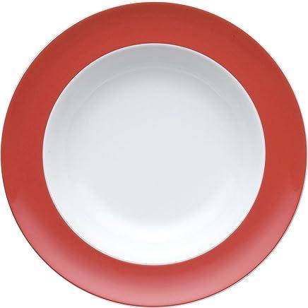 Preisvergleich für Thomas Sunny Day Suppenteller, Pastateller, Teller, Porzellan, New Red / Rot, Spülmaschinenfest, 23 cm, 10323